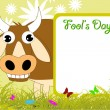 Vector illustration for fools day - Stock Vector