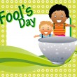 Royalty-Free Stock Vector Image: Vector illustration for fools day