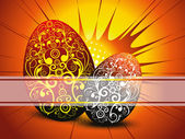 Background with set of decorated egg — Stock Vector