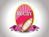 Background with isolated rugby, ribbon — Stock Vector