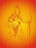 Vector holy illustration for ramnavami — Stock Vector