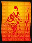 Beautiful illustration for ramnavami — Stock Vector