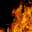 Fire isolated over black background — Stock Photo #4278063