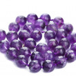 Amethyst necklace isolated — Stock Photo