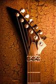 Vrchol kytara grunge pozadí — Stock fotografie