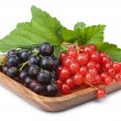 Stock Photo: Currant in bowl isolated