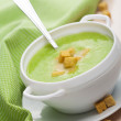 Green vegetable soup — Stock Photo