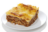 Classic lasagna bolognese isolated — Stock Photo