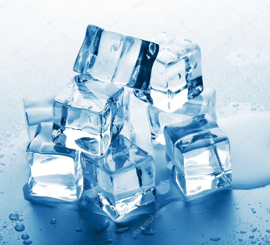 Ice cube melting on my big tits 2