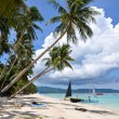 Beautiful white sand beach in Boracay - Stock Photo