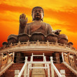 Tian Tan Buddha (Hong Kong, Lantau Island) — Стоковое фото