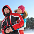 Beautiful couple enjoying winter day — Stock Photo #5310839