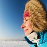 Beautiful woman enjoying winter day — Stock Photo #5310850