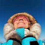Beautiful woman enjoying winter day — Stock Photo #5310856