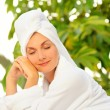 Dreaming young woman after bath — Stock Photo #5310888
