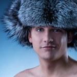 retrato de jovem bonito chapéu fofo — Foto Stock