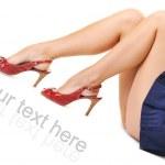 Sexy woman's legs — Stock Photo