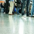 Moving crowd. motion blur — Stock Photo #5311170