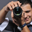Photographer making a shot — Stock Photo