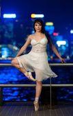Beautiful ballet dancer outdoors — Stock Photo