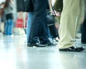 Moving crowd. motion blur — Stock Photo