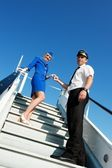 Picture of a cabin crew couple — ストック写真