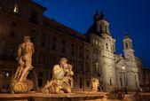 Piazza Navona Fountain, Rome, Italy. — Stock Photo
