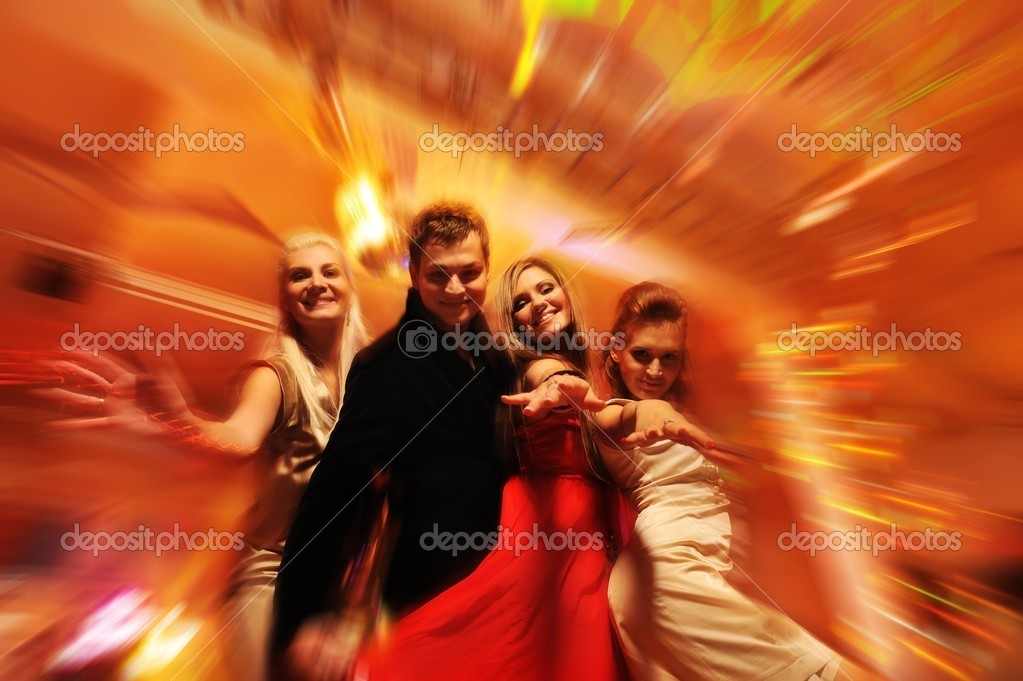 Dancing in the night club — Stock Photo #5311032
