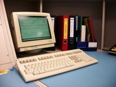 Old computer workstation — Stockfoto