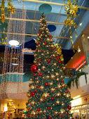 The big decorated christmas fur-tree — Stock Photo