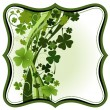Clovers frame — Stock Vector