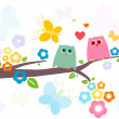 Royalty-Free Stock Vector Image: Cute Owls