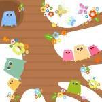 Cute owls — Stock Vector #4966840