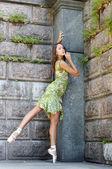 Green portrait — Stock Photo