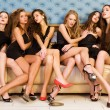 Foto Stock: Group portrait of models