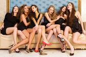 Grupporträtt av modeller — Stockfoto