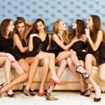 Six beautiful women — Stock Photo