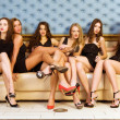 Stock Photo: Six beautiful women