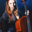 Royalty-Free Stock Photo: Cello musician, Mystical music
