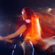 Red-haired girl the guitarist — Stock Photo #4339639