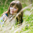 Stock Photo: Girl on a meadow