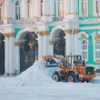 Stock Photo: Snow-removing technics