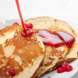 Tasty pancakes with a syrup — Stock Photo