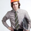 Stock Photo: Young handsome builder