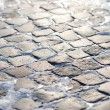 Stone block paving - Stock Photo