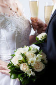 Wedding bouquet from white flowers — Стоковое фото