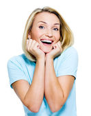 Beautiful laughing woman — Stock Photo