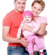 Stok fotoğraf: Happy young famile with beautiful baby
