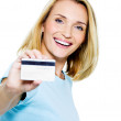 Royalty-Free Stock Photo: Happy woman with credit card