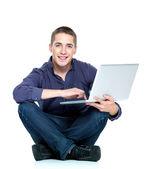 Man with laptop — Stock Photo